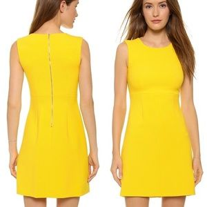 DVF Carrie yellow dress